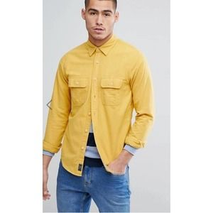 Abercrombie &Fitch Mustard Flannel M